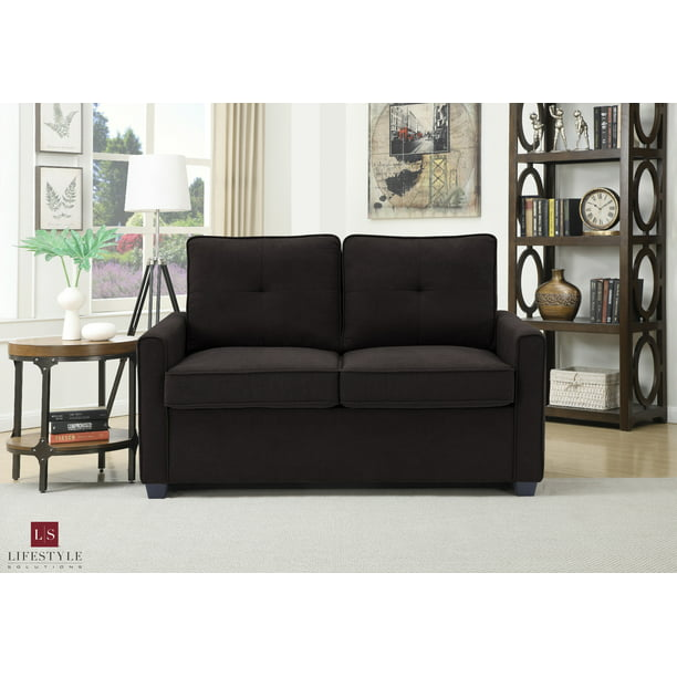 Lifestyle Solutions Venice Loveseat With Pullout Bed (Twin), Java