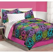 Latitude Neon Peace Bedding Comforter Set