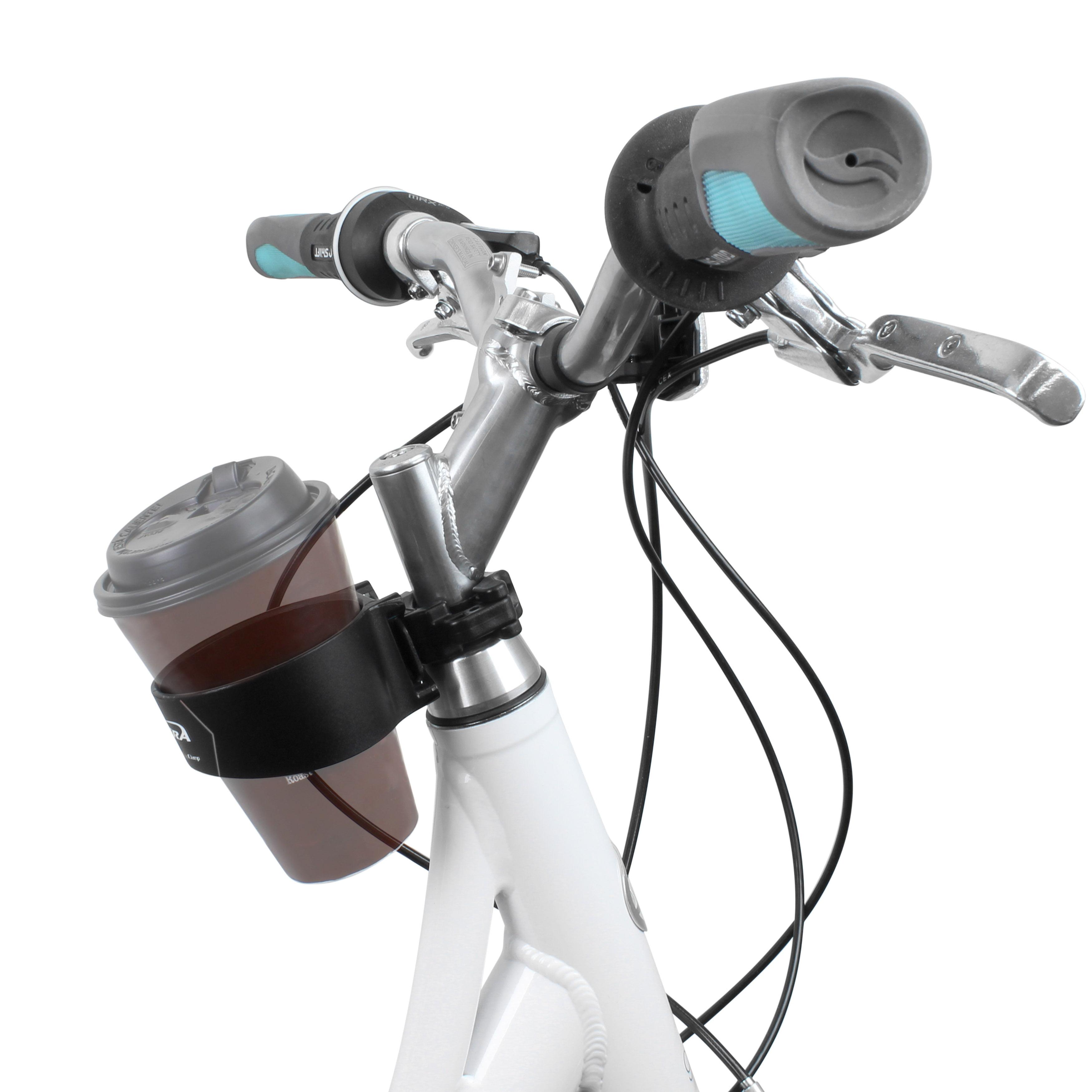 Ibera Bike Handlebar Cup Holder Black with Multi-Way Mount