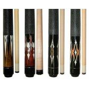 "Lot of 4 - 58 "" 2 Piece Hardwood Maple Pool Cue Billiard Sticks 18 - 21 OZ"
