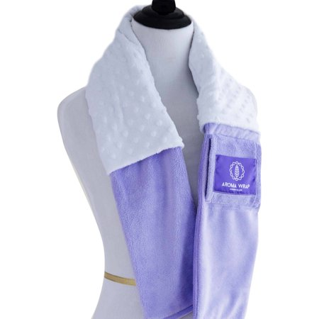 Aroma Wrap Therapeutic Aromatherapy Neck Wrap Luxury Series with Essential Oils and Removable Sleeve