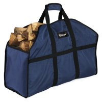 Firewood Log Carrier, Gonex Durable and Waterproof Nylon Log Tote Bag for Fireplaces & Wood Stoves, Three Colors Options