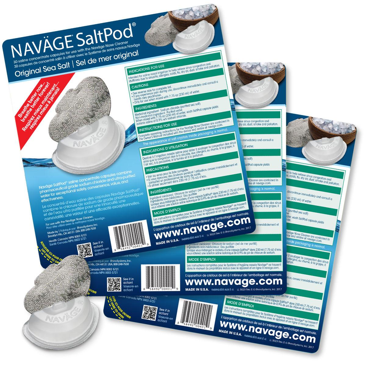 Navage SaltPod Bundle: 3 SaltPod 30-Packs (90 SaltPods) $44.85 if purchased separately