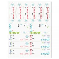 Flaked Script Christmas To/From Labels - Set of 42 gift tags