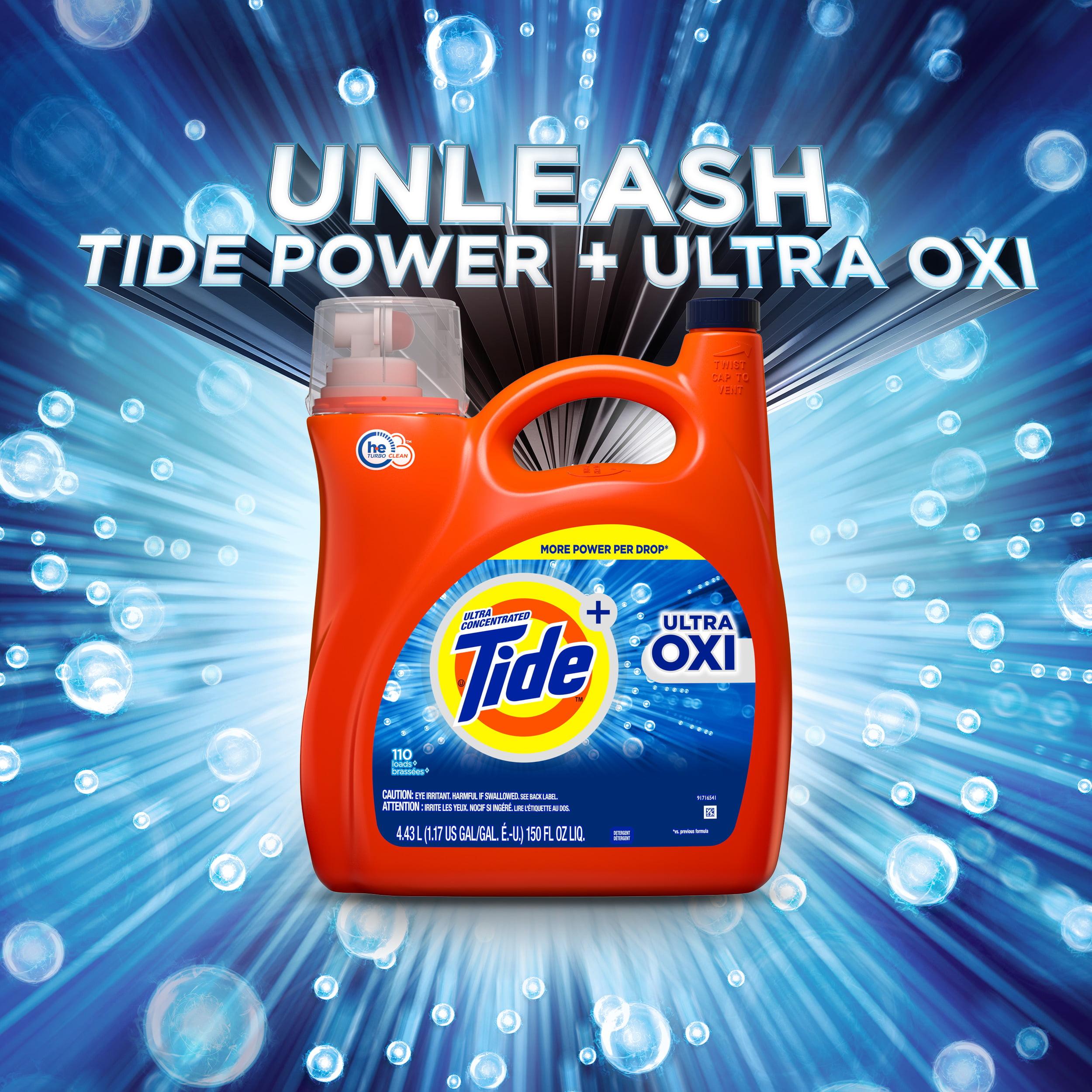 Tide Ultra Oxi Liquid Laundry Detergent, 89 Loads 138 fl oz