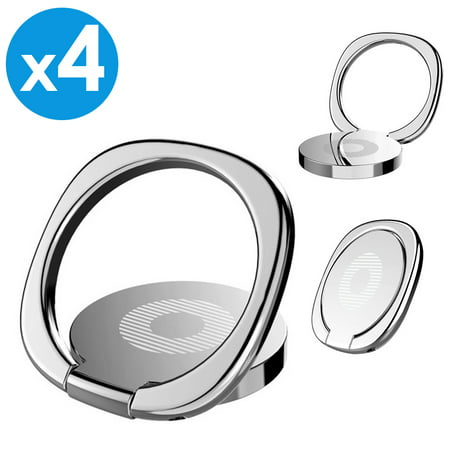 4 Pack Universal 360° Rotating Finger Ring Cell Phone Holder Grip Kickstand Desktop For Apple iPhone X iPhone 8 Plus Samsung Galaxy S8 S9+ Plus Note 9 Note 8 Galaxy S7 Edge LG G7 Google Pixel 2