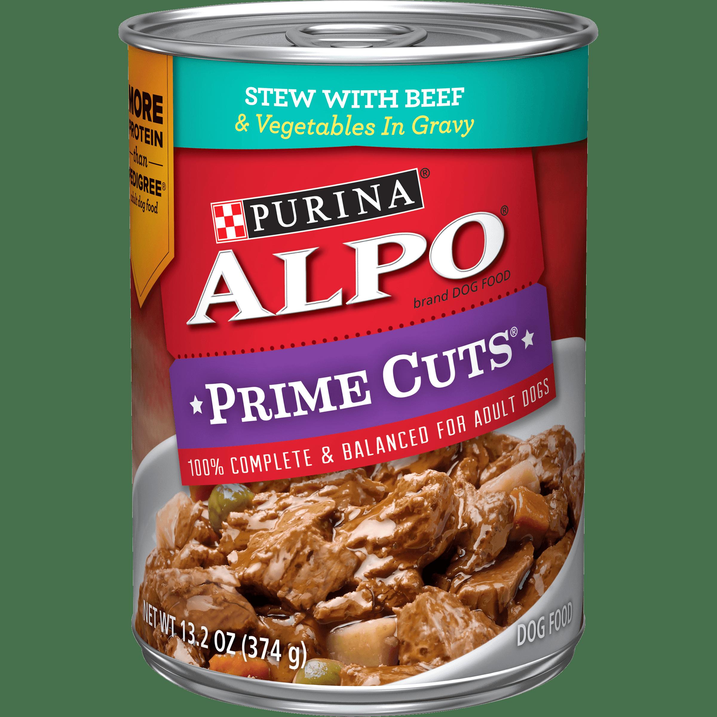 (12 Pack) Purina ALPO Gravy Wet Dog Food, Prime Cuts Stew ...