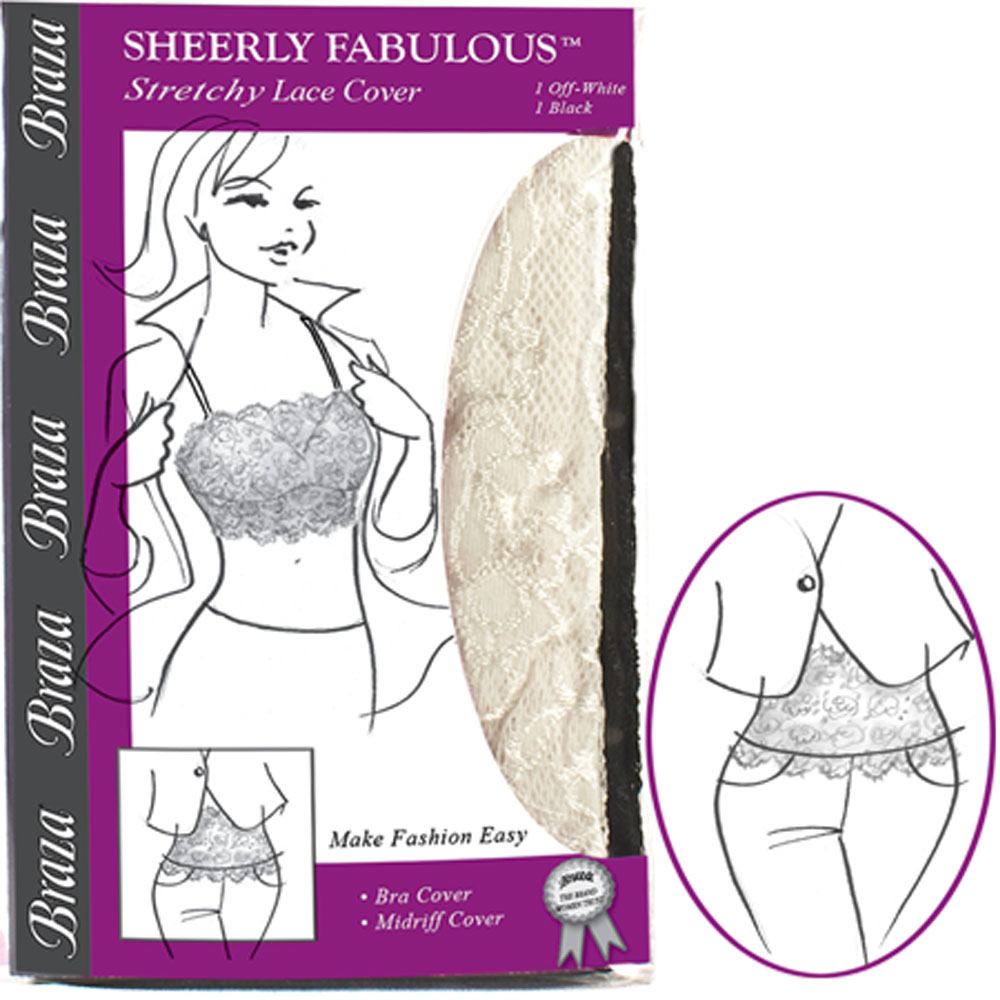 Braza Sheerly Fabulous STRAPLESS Stretch Lace Bandeau Camisole Midriff Cover