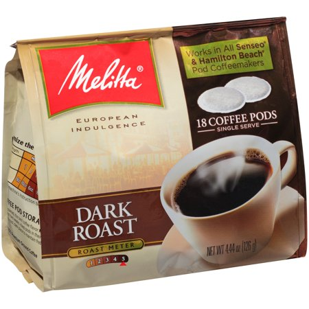 melitta dark roast coffee pods for senseo hamilton beach pod brewers 18 ct bag. Black Bedroom Furniture Sets. Home Design Ideas