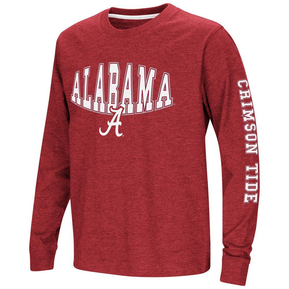 Alabama Crimson Tide Bama Youth Long Sleeve Tee Spike L S Tee by Colosseum