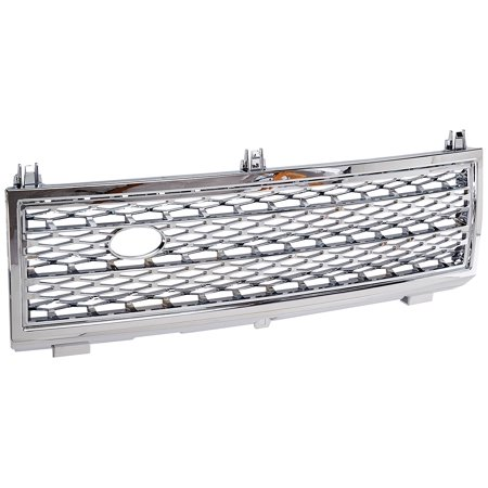 Spec-D Tuning HG-RRL32203C Land Rover Range Rover Hse L322 Chrome Front Grill Grille