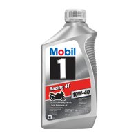 Mobil 1 Racing 4T Full Synthetic Motorcycle Oil 10W-40, 1 Quart