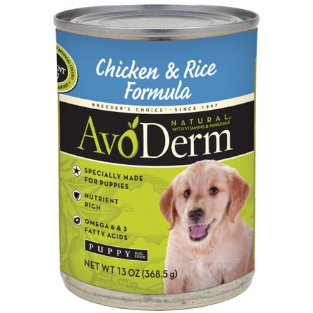 AvoDerm Natural Chicken Meal and Brown Rice Formula for Puppies, 13-Ounce (Avoderm Natural Chicken Meal & Brown Rice)
