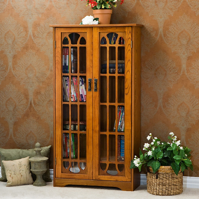 Carolina Oak finish 23.47 L x 13.78 W x 43.78 H Sauder 401349 Orchard Hills Multimedia Storage Cabinet
