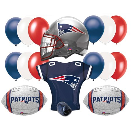 New England Patriots Football Super Bowl Party Helmet Jersey 17Pc Balloon Pack