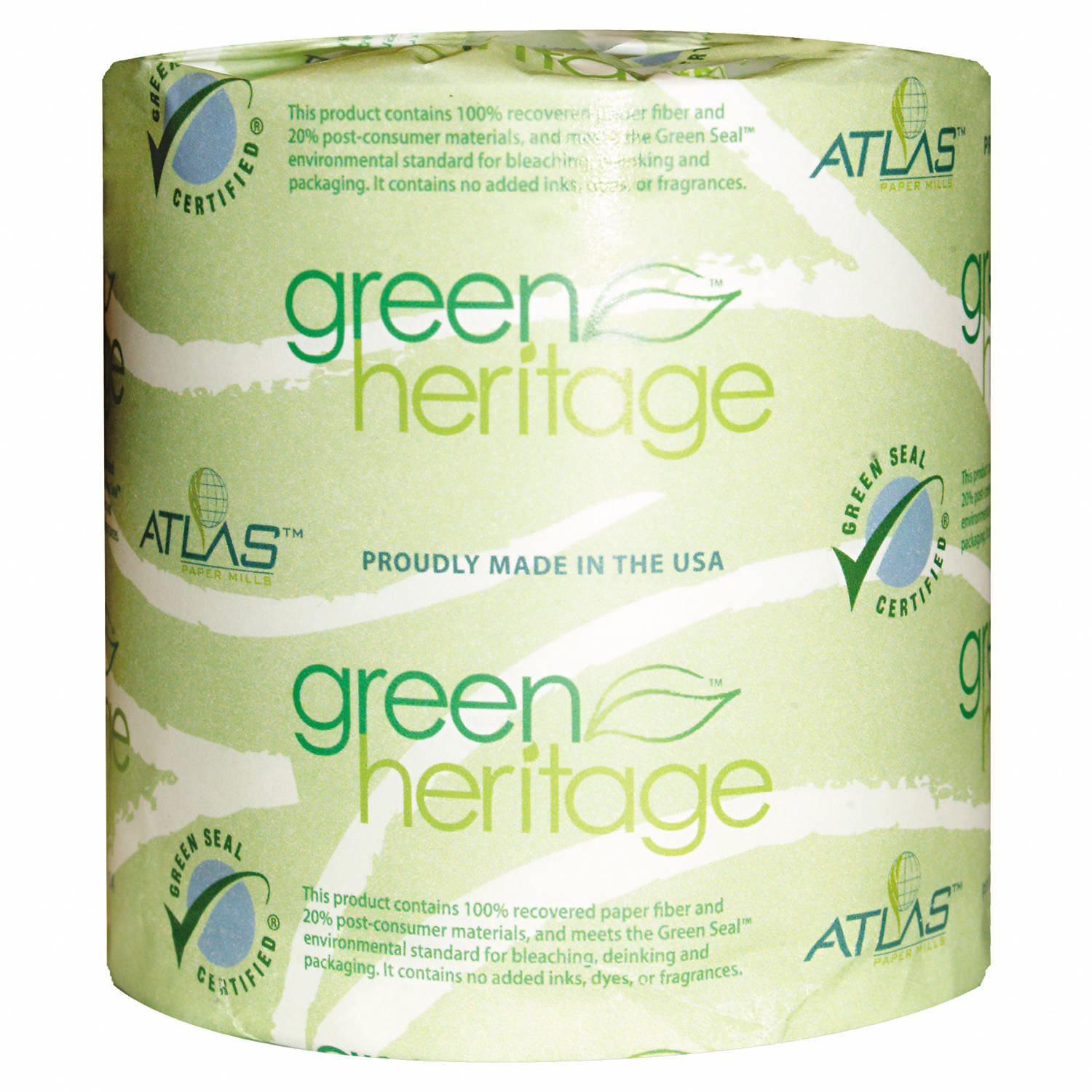 Atlas Paper Mills Green Heritage 1-Ply Toilet Tissue, 1000 sheets, 96 rolls