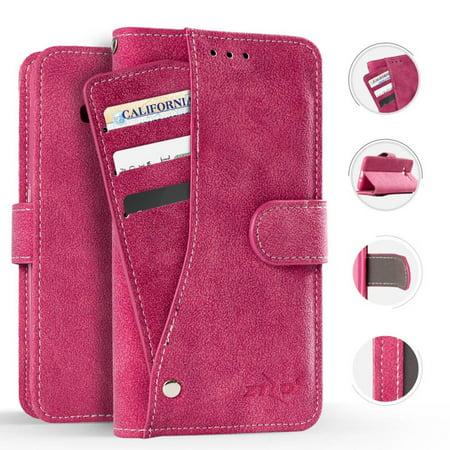 Mystcase™ For Samsung Galaxy J7 2018 / J7 Refine / J7 Star / J7 Achieve / J7 V 2nd Gen. Premium Slide Out Pocket Wallet Case Pouch + Screen Guard