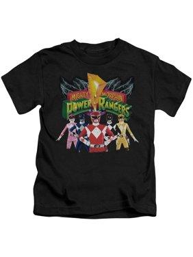 Power Rangers - Rangers Unite - Juvenile Short Sleeve Shirt - 5/6