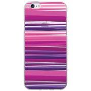 OTM Classic Prints Clear Phone Case for Apple iPhone 6, Purple Stripes