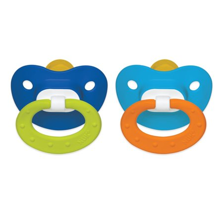 NUK Classic Latex BPA Free Pacifier, 6 Months - 2pk