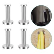 Tower Hook, EEEKit 4-Pack Stainless Steel Wall Mounted Hooks Towel Rack Holder Hat Clothes Coat Hanger for Bathroom Bedroom Foyers Hallways Kitchen