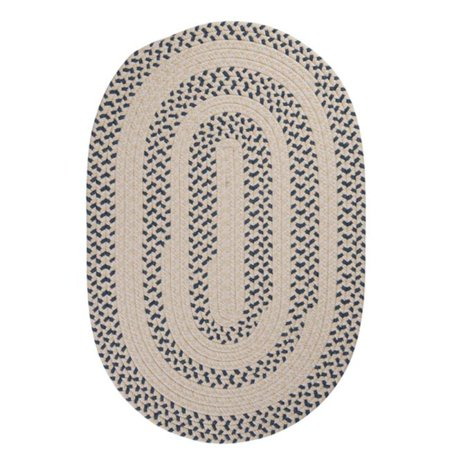 Colonial Mills Rug EM59R048X048 Elmwood - Denim 4 in. round Braided Rug - image 1 of 1