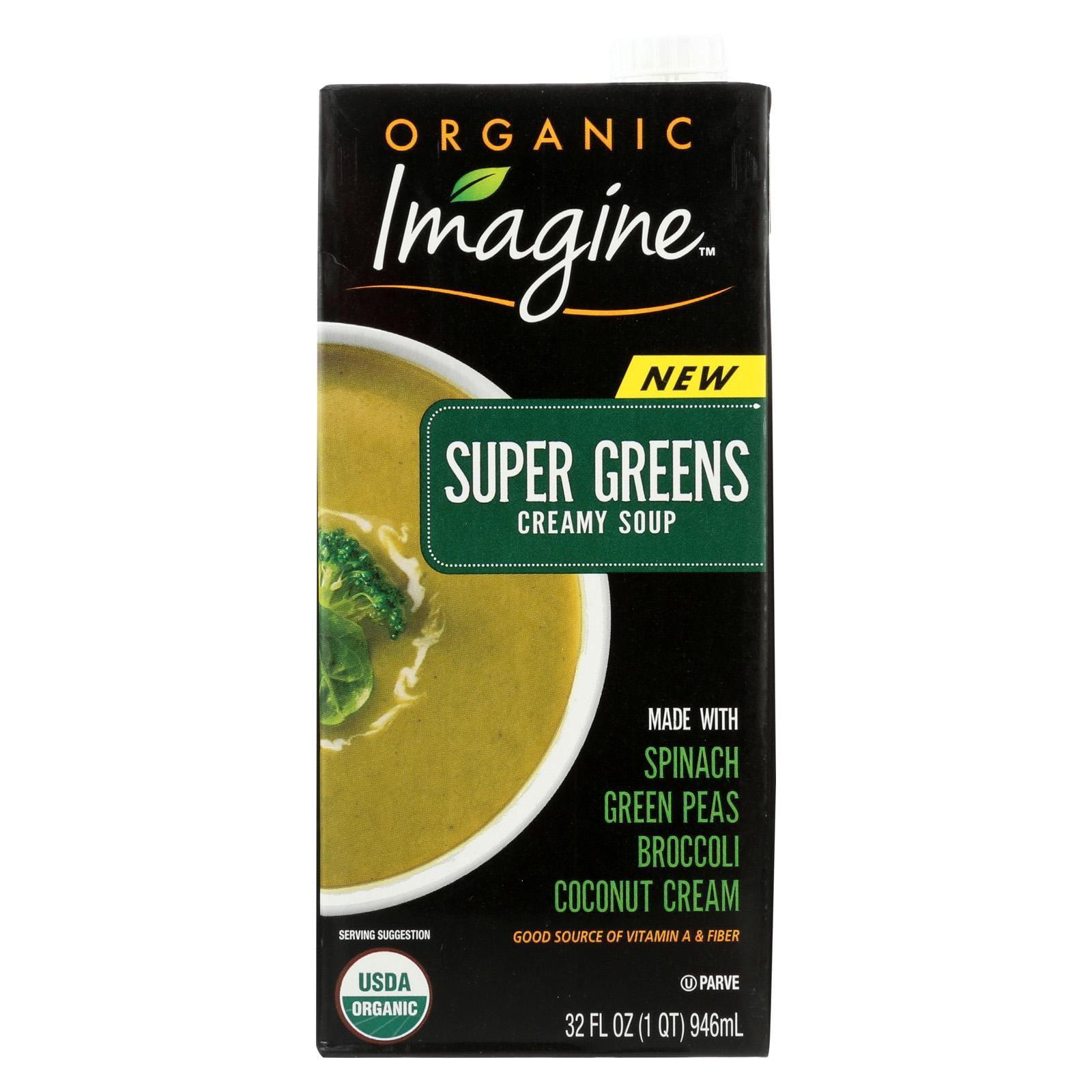 Imagine Foods Soup – Organic – Super Greens – Soup – Pack of 12 – 32 Fl Oz