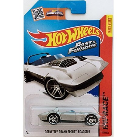 Corvette Race - Hot Wheels, 2015 HW Race, Fast & Furious Corvette Grand Sport Roadster [Silve...