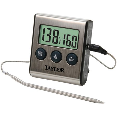 Taylor Digital Cooking Thermometer With Probe Plus Timer Walmart Com