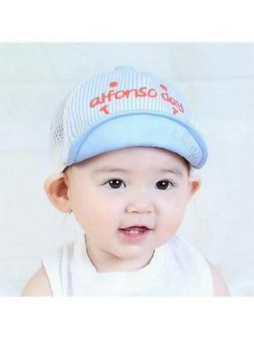 49dd792b9d3771 Product Image Fymall Baby Girls Boys Letter Cartoon Striped Breathable  Baseball Net Cap