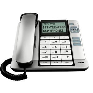 Cid Dual Keypad (G E Thompson Corded Desk Phone Cid Tilt Screen Large Tilt Display Keypad Buttons By RCA )