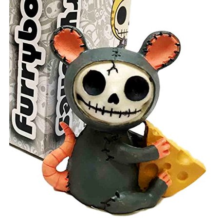 Furrybones Mouse With Muenster Cheese Skeleton Monster Ornament Figurine