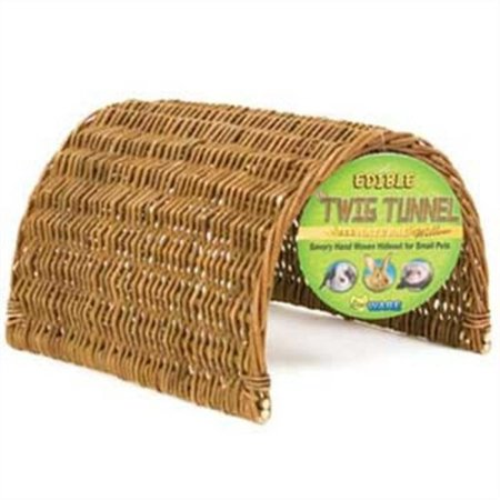 Ware Manufacturing Hand Woven Willow Twig Tunnel Small Pet Hideout, (Willow Twig)
