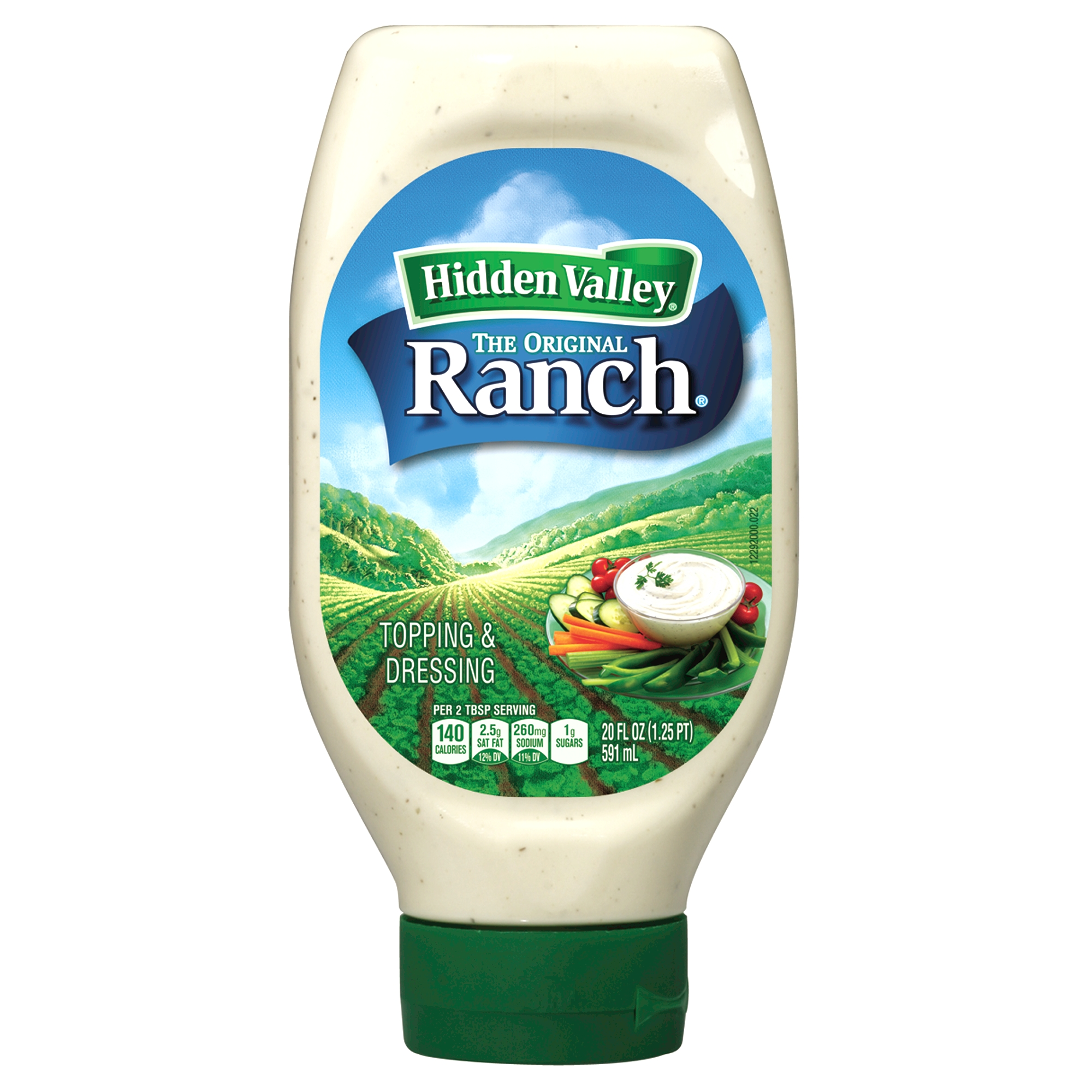 Hidden Valley Easy Squeeze Original Ranch Salad Dressing & Topping, Gluten Free - 20 oz Bottle