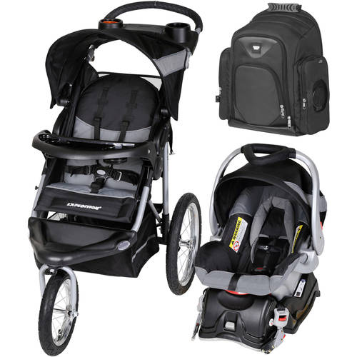 Baby Trend Expedition Jogger Travel System, Millennium w/Graco Gotham Backpack Diaper Bag Value Bundle