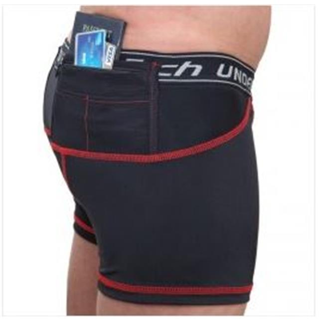 UTUC TS1017BK-XL Travel Safe Mens Briefs, Extra Large
