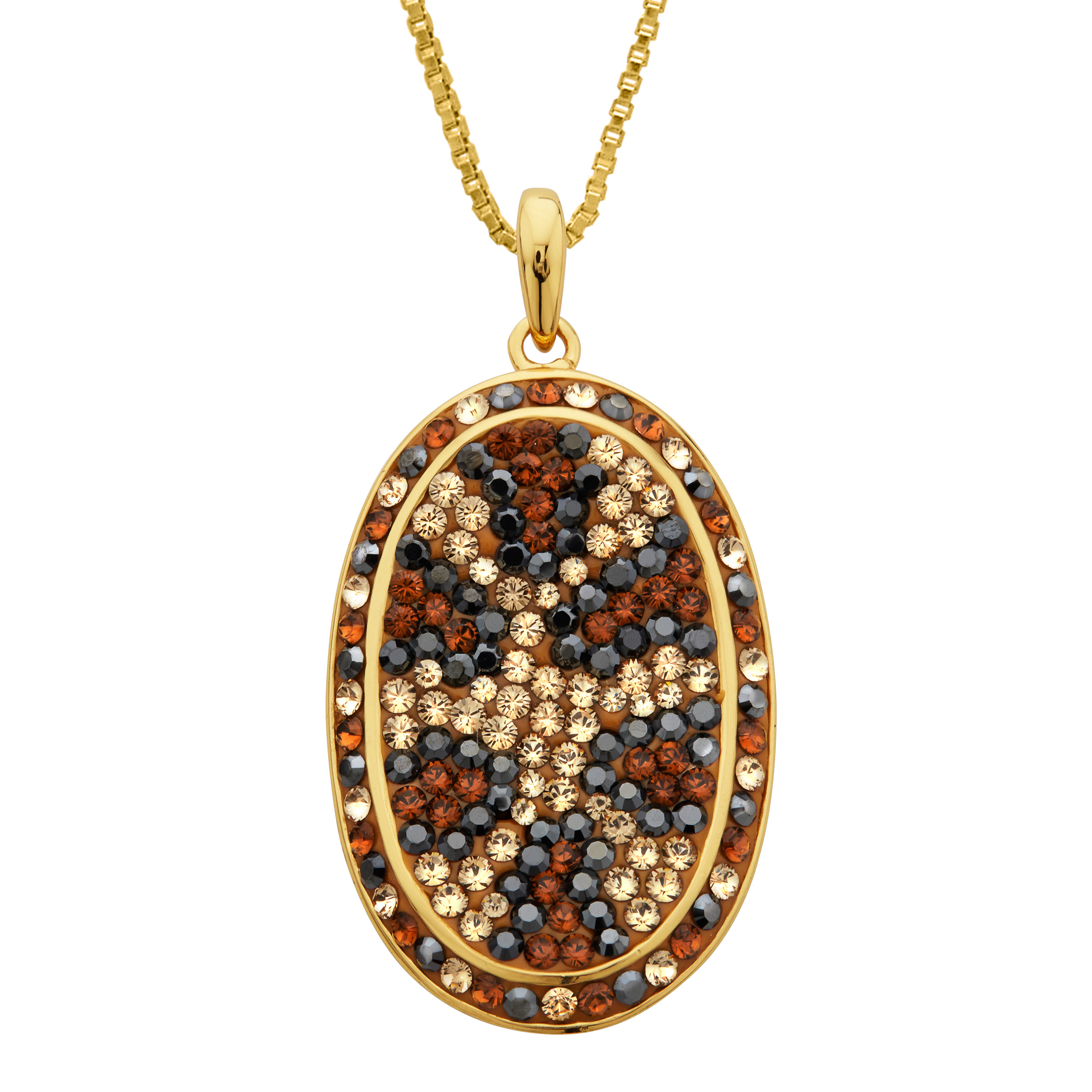 Crystaluxe Leopard Pendant Necklace