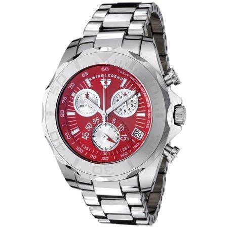 Swiss Legend T8010-55 Tungsten Pro Chronograph Tungsten Red Dial Watch