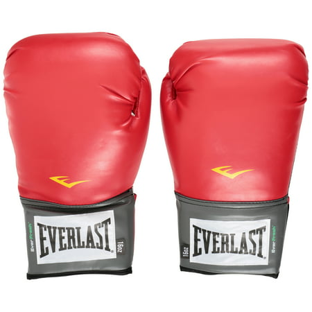 (Everlast Pro Style Boxing Gloves, 16oz, Red)