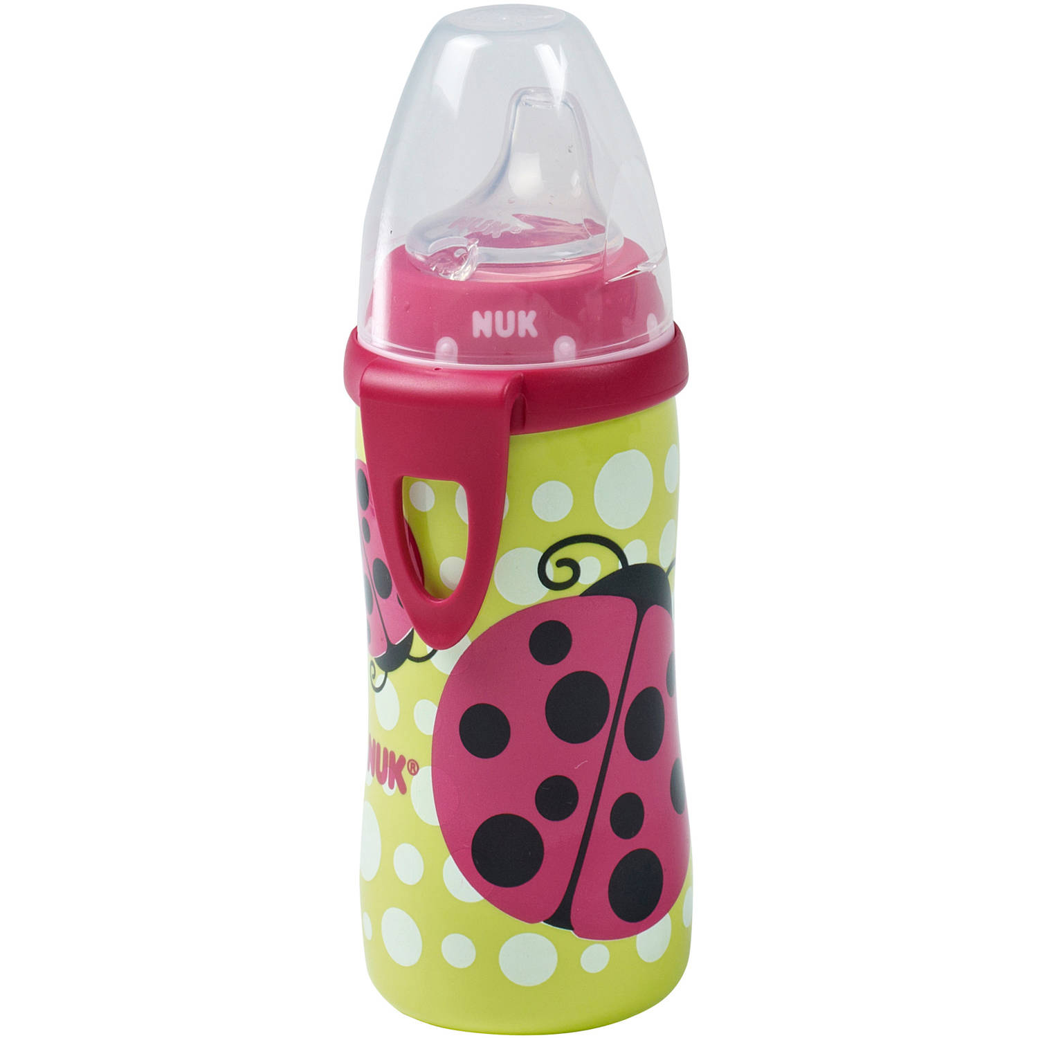 NUK - Silicone Spout 10-oz Active Cup, BPA-Free, Ladybug