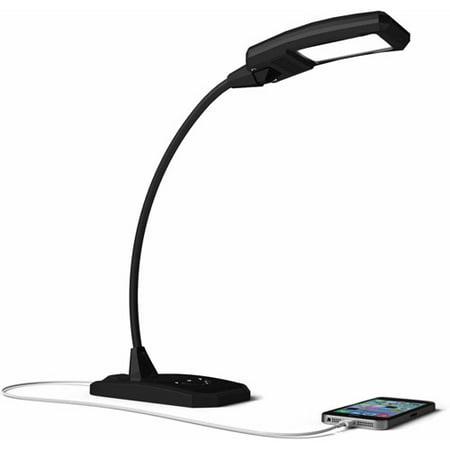 Brick Deck Light - Newhouse Lighting Flex 6W LED Desk Lamp, Black