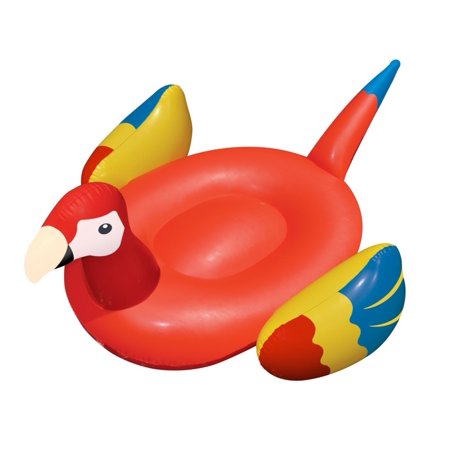 Blow Up Pool Toys (Swimline 90629 Giant Tropical Parrot Inflatable Ride On Swimming Pool)
