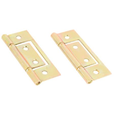 161497 Brass Plated Non Mortise Hinge 2 Pack