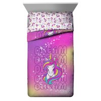 Jojo Dream Unicorn Twin/Full Pink Reversible Comforter