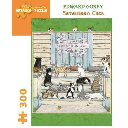 Seventeen Cats 300-Piece Jigsaw Puzzle