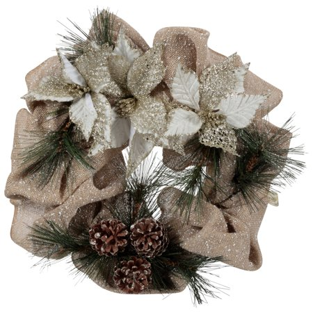 Holiday Time 20-Inch Pine-cone Mesh Wreath