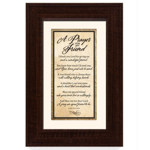 The James Lawrence Company 'Prayer for my Friend' Framed Textual Art