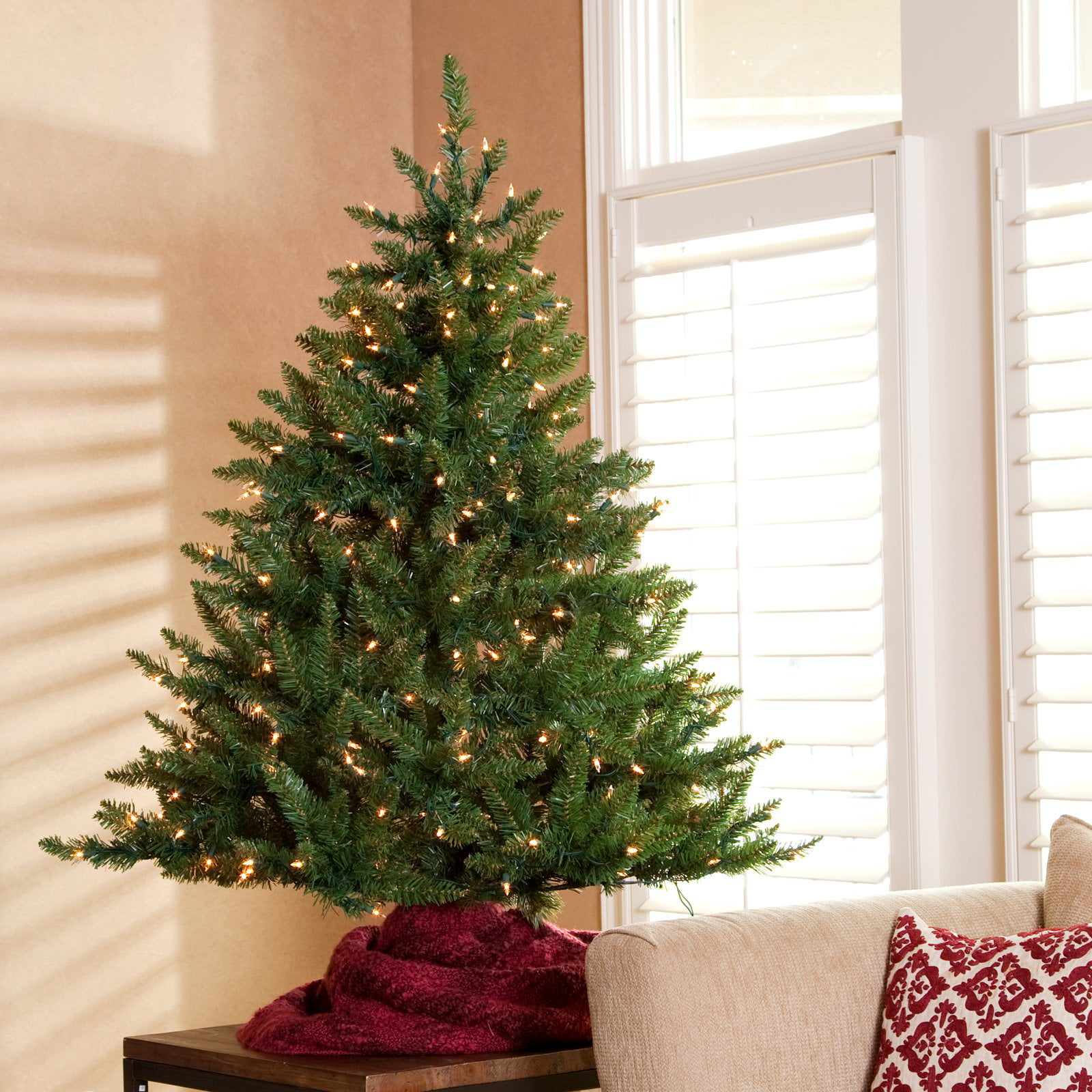 classic tabletop pre lit christmas tree 45 ft walmartcom