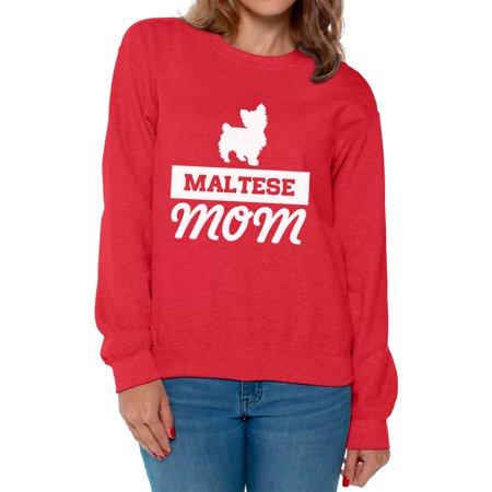 Womens Black Maltese - Awkward Styles Women's Maltese Dog Mom Graphic Sweatshirt Tops Pet Lover Gift