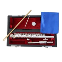 Ktaxon Professional Piccolo Silver C Key School Band with Case